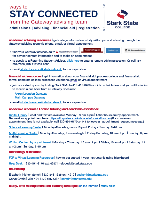 Stay connected document available as pdf below