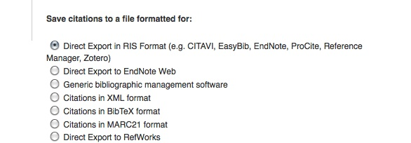 Creating a File for EndNote