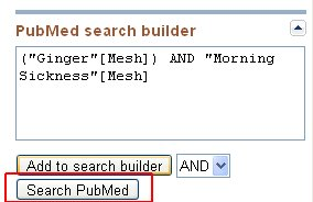 Submitting the Search to PubMed
