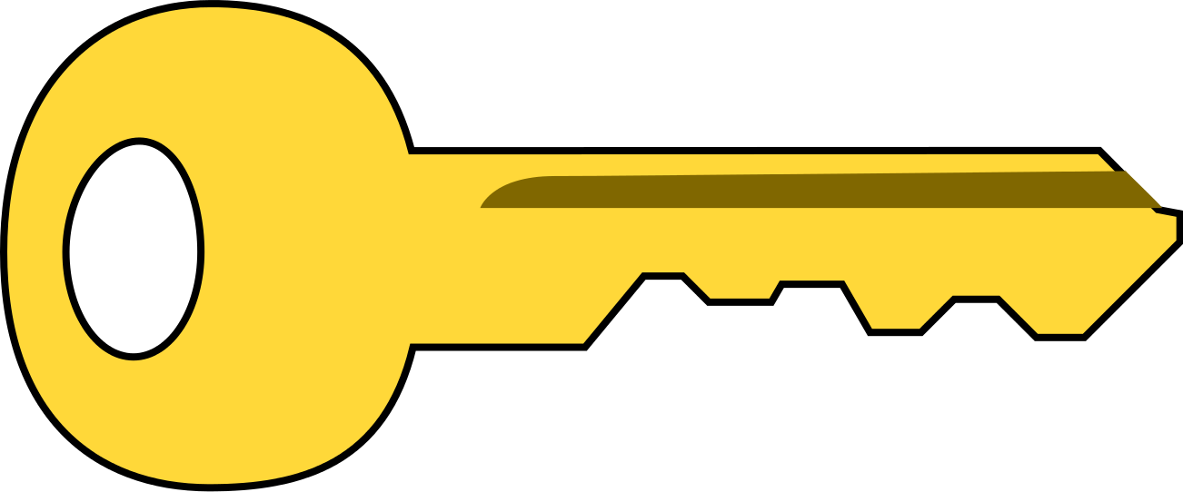 image of a yellow key