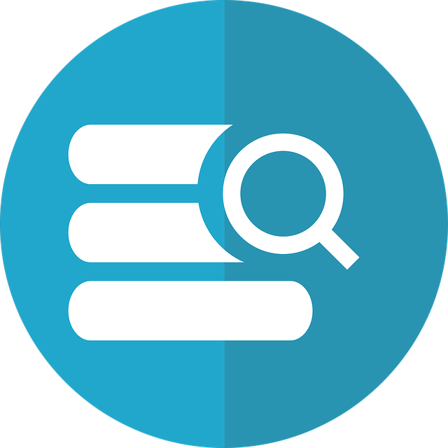 Database icon (3 stacked lines) with magnifying glass