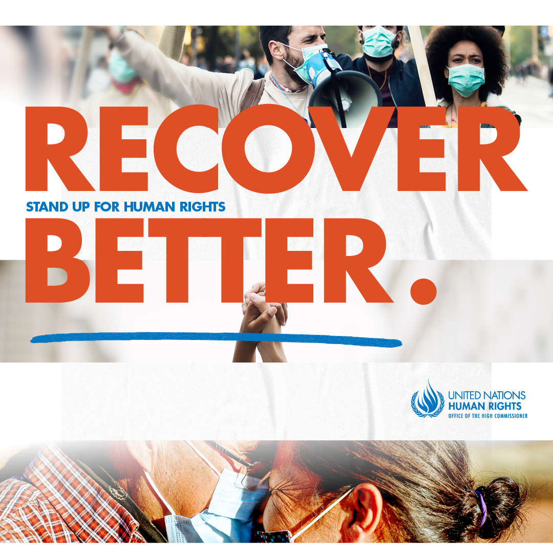 Recover Better - Stand up for human rights - Human Rights Day 2020