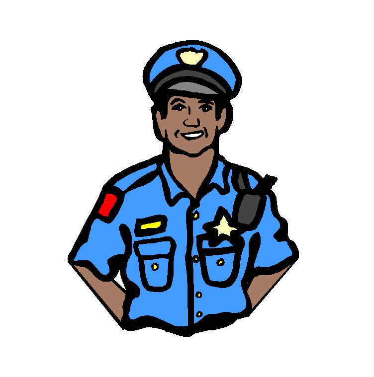 Clipart of a police officer