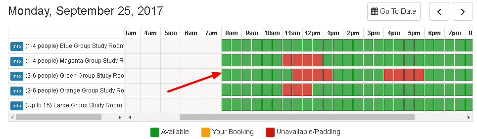 Book a Room example