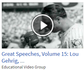 Lou Gehrig from Great Speeches Series