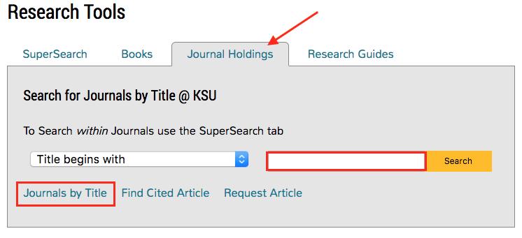 screenshot of library website