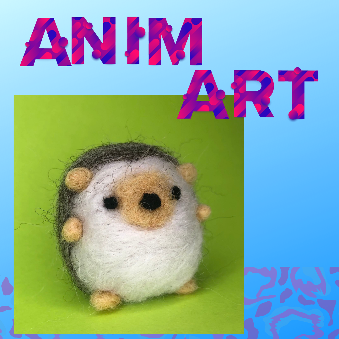 Animart: Felted Hedgehog