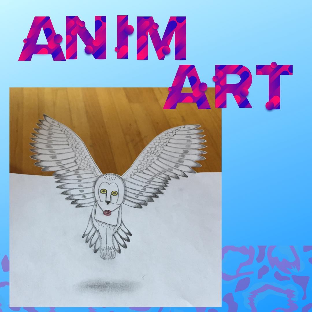 Animart: Hedwig Anamorphic Drawing