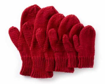 Virtual Cozy Project: Basic Family Knit Mittens (Part 1)