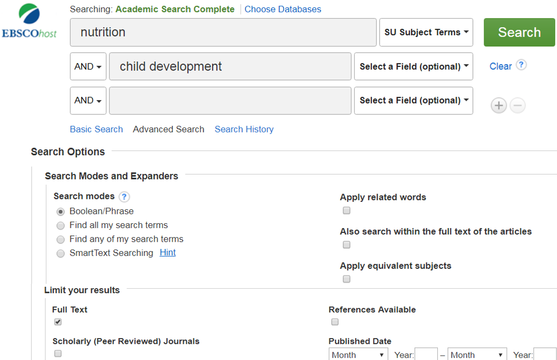Image of EBSCO Academic Search Complete Search