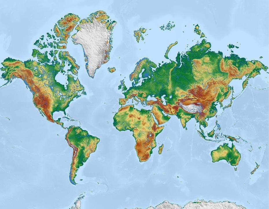 Map of the World - via Pixabay CC