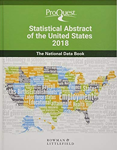 Image of book cover for ProQuest Statistical Abstract of the United States 2018