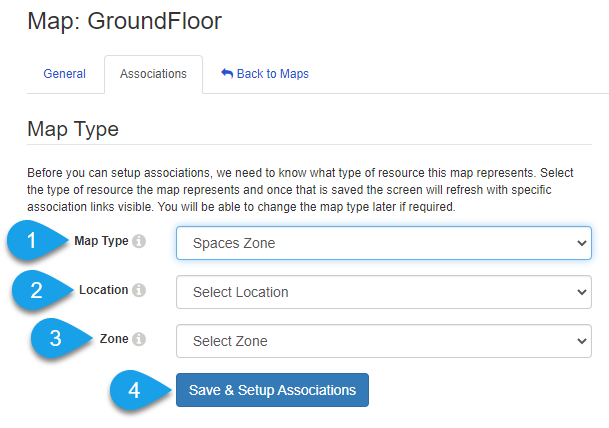 map type options