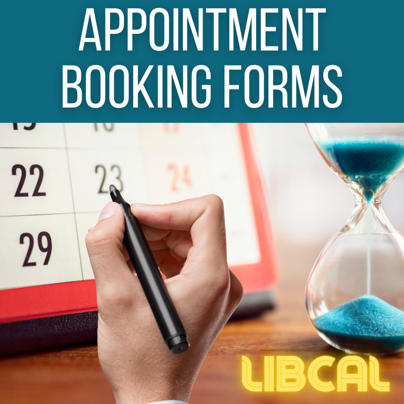 Appointment Booking Forms with LibCal