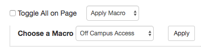 bulk update action for applying macro