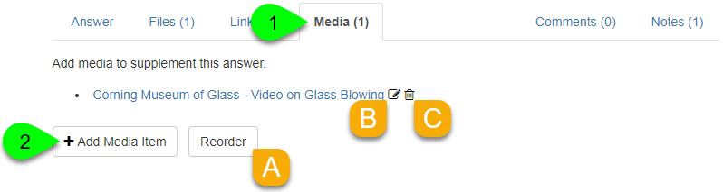 Options under the Media tab