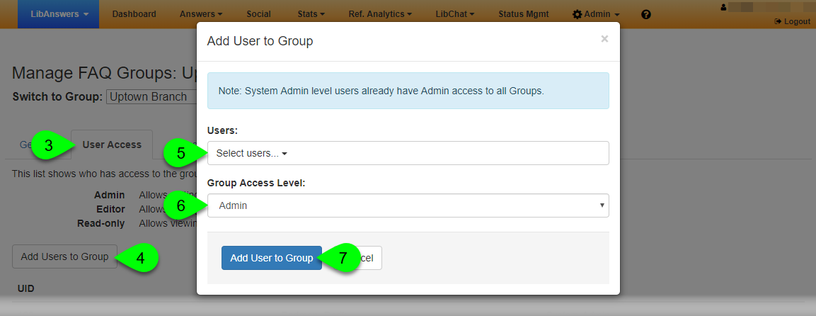 The Add User to Group window