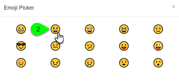 The Emoji Picker window