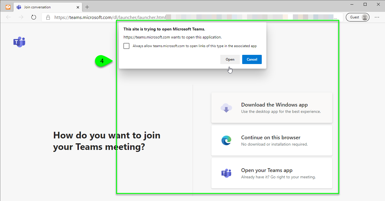 the join conversation page
