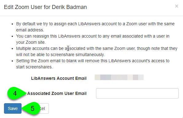 The Edit Zoom User window