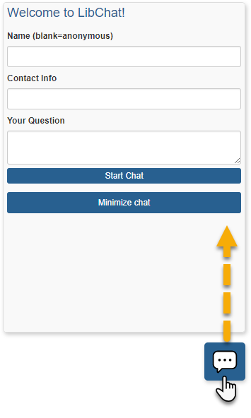 Example of a floating chat widget