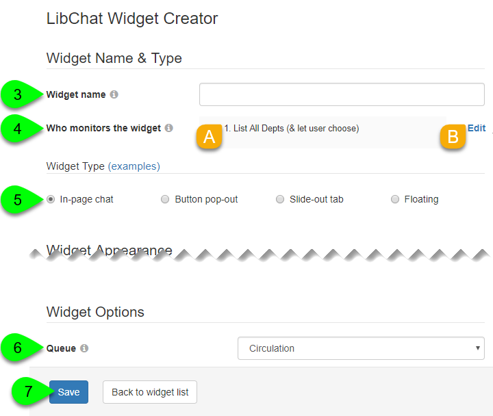 Options for creating a simple in-page chat widget