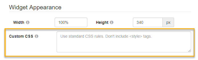 The Custom CSS text box