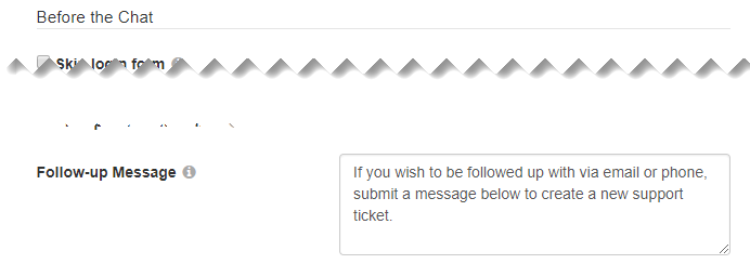 The Follow-up Message option