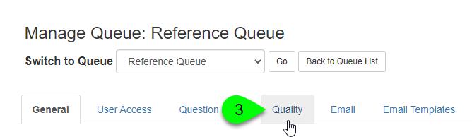 the Quality tab
