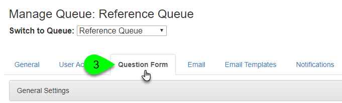 The Question Form tab