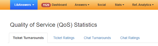 tabs on the Quality of Service (QoS) Statistics page