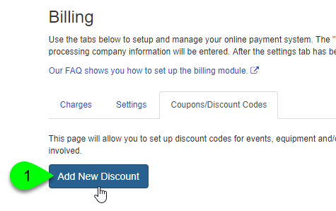 The Add New Discount button