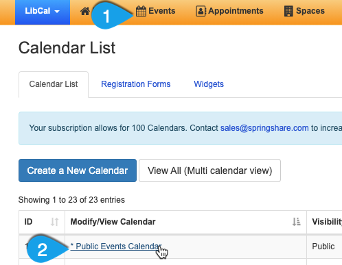 customizing a calendar's defaults, part 1