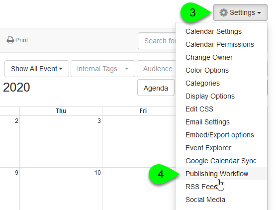 enabling a calendar's publishing workflow, part 2