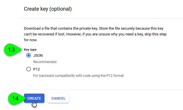 The Key Type options