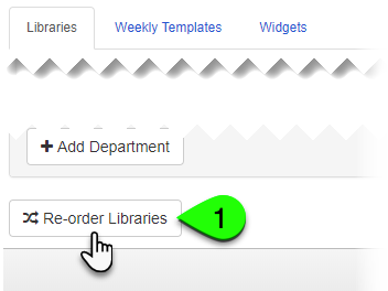 Clicking the Re-order Libraries button under the Libraries tab