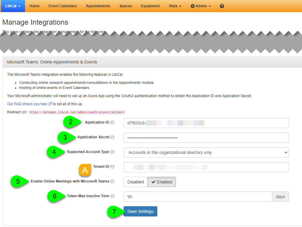 Options for enabling Azure AD OAuth2 calendar sync
