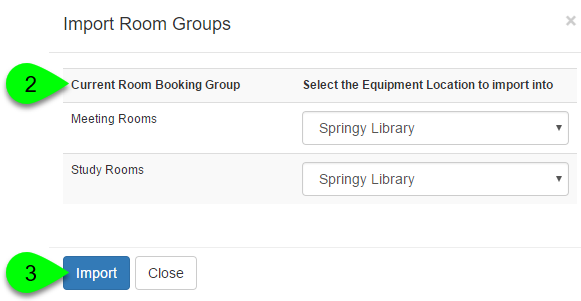 Example of importing room groups