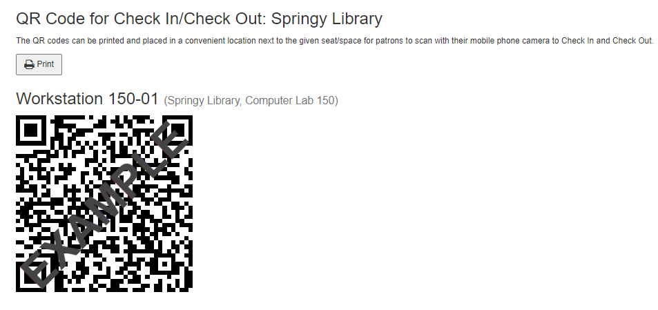 example QR code printout