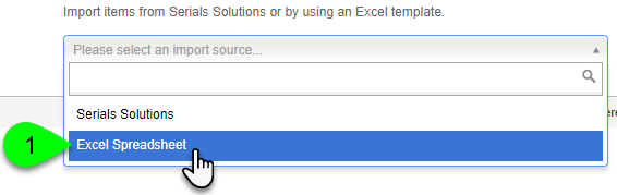 Selecting Excel Spreadsheet as the import source