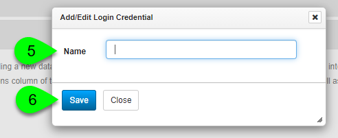 Adding a login credential type