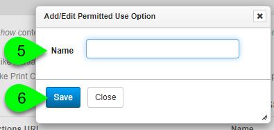 Adding a permission option