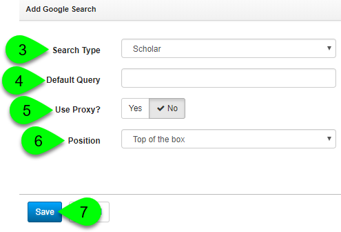 Creating a new Google Search asset