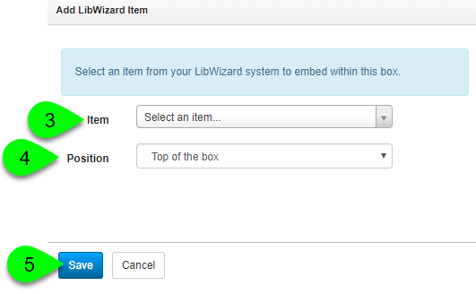 Creating a new LibWizard Item asset