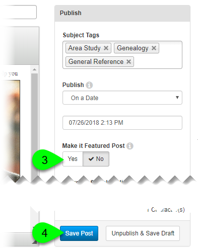 Customizing the Feature Post option