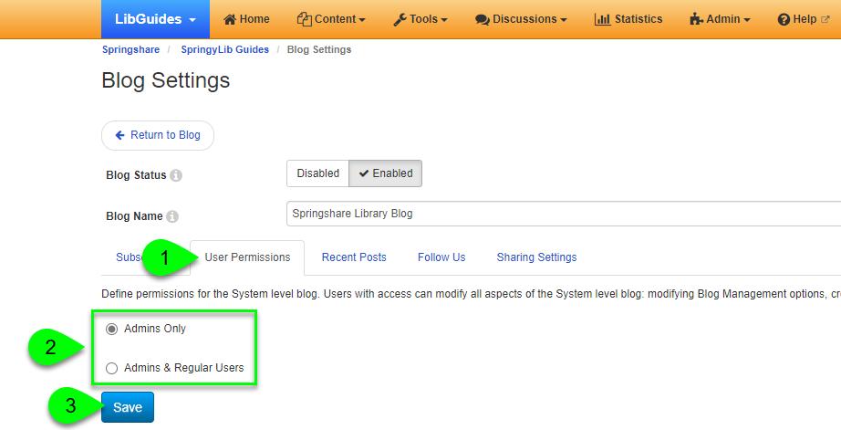 Managing user permissions