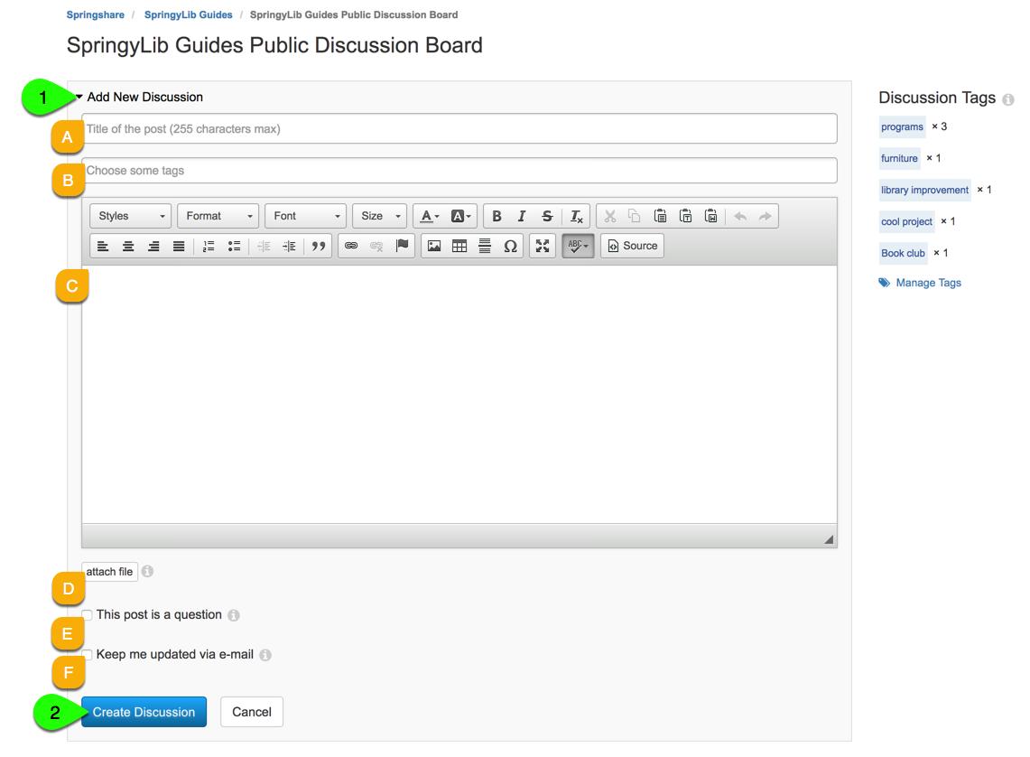 add a new discussion board thread
