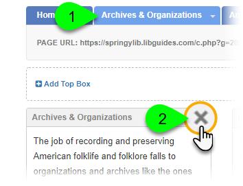 Clicking the Delete Box icon