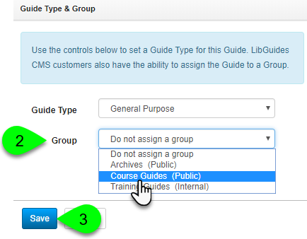 Changing a guide's group assignment
