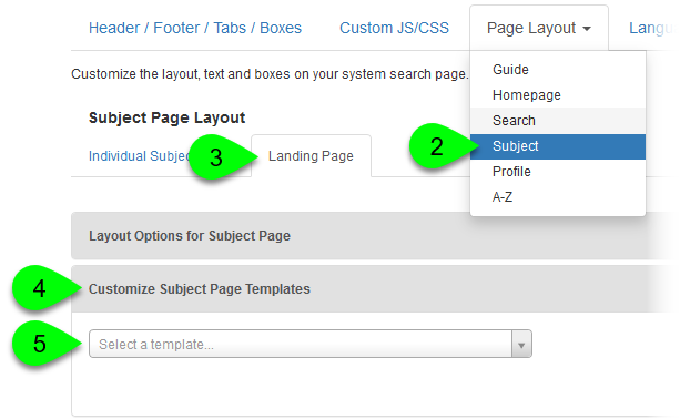 Selecting a template to customize